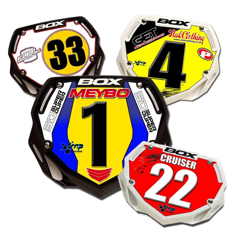 Case Design phone case stickers : Box BMX PLATE Custom Number Plates - BMX Race Plates