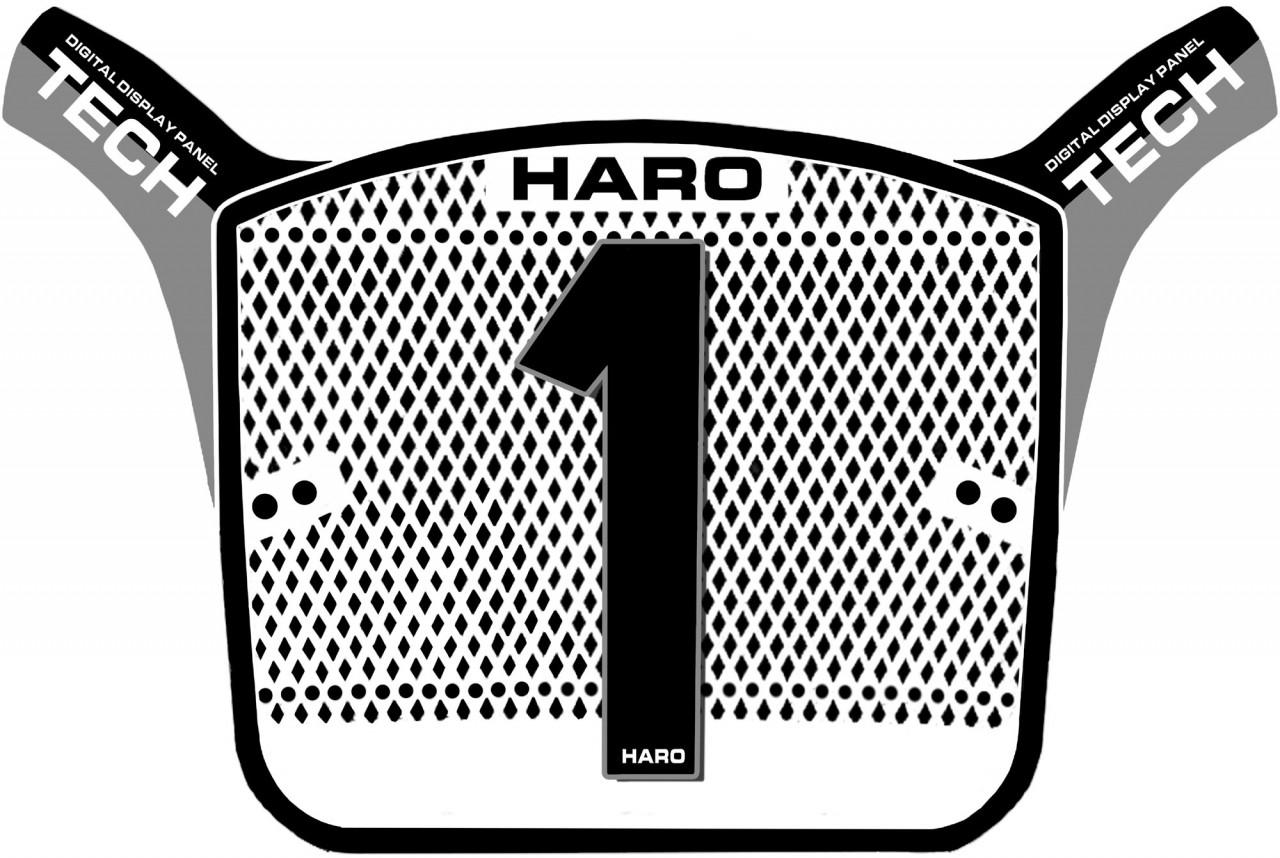 haro aero tech replica old school plate black and grey